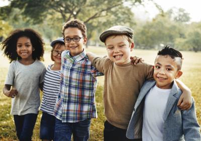 children gathering outdoor